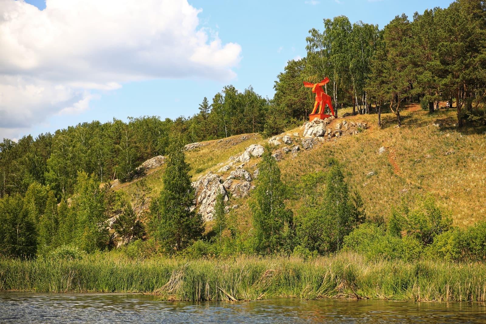 Скульптура Лось, г. Каменск-Уральский
