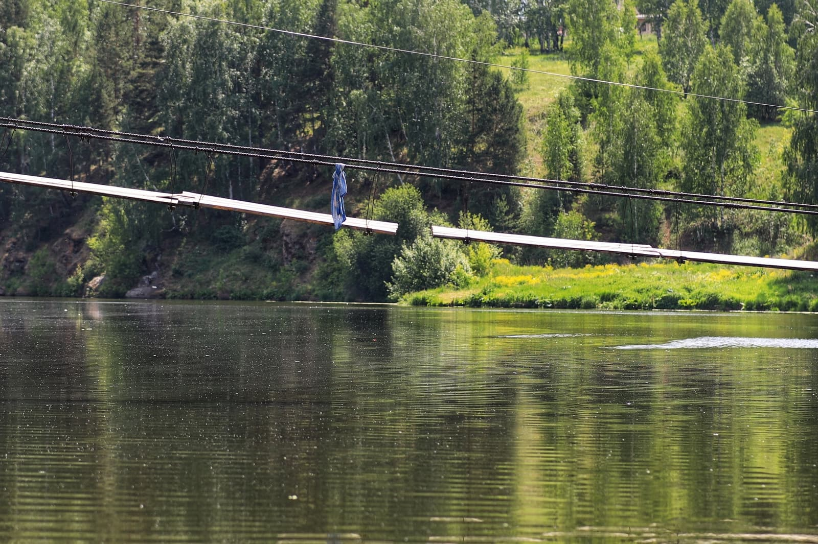 Подвесной мост у д. Брод