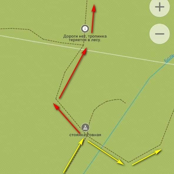 Скриншот карты в мобильном приложении Organic Maps
