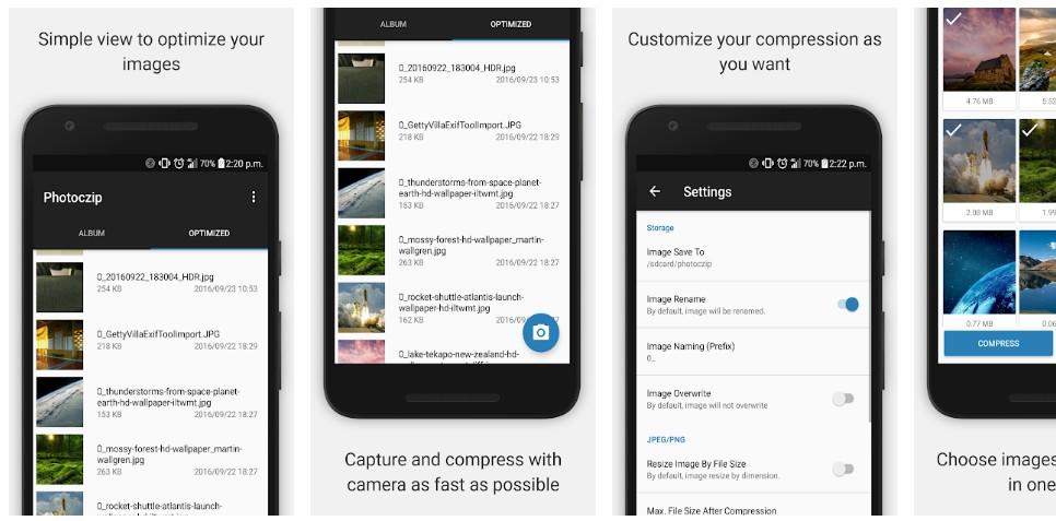 Мобильное приложение Photoczip