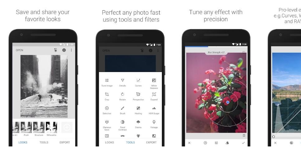 Мобильное приложение Snapseed