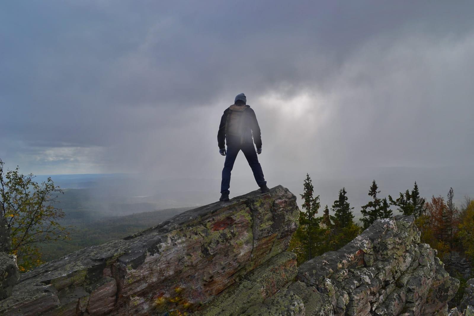 Александровская сопка, фотограф на вершине