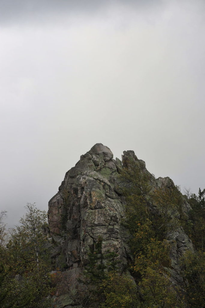 Александровская сопка, туман наверху